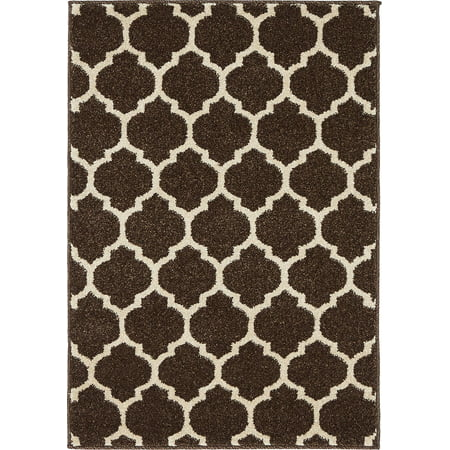Unique Loom Philadelphia Trellis Rug Brown Anti Fatigue Dry Area
