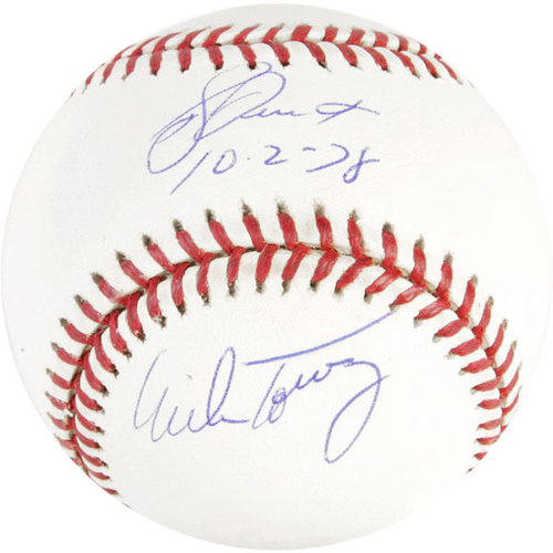 MLB - Bucky Dent and Mike Torrez Autographed Baseball | Details: Autographed American League Baseball, 10-2-78 Inscription