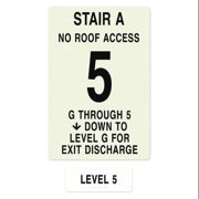 INTERSIGN NFPA-PVC1812(AGN5) NFPASgn,RoofAccssN,FlrLvl5,FlrsSrvdGto 5 G0263700