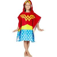 Wonder Woman Bath Towel Pool/Beach Hooded Poncho Robe For Girls (4-7)