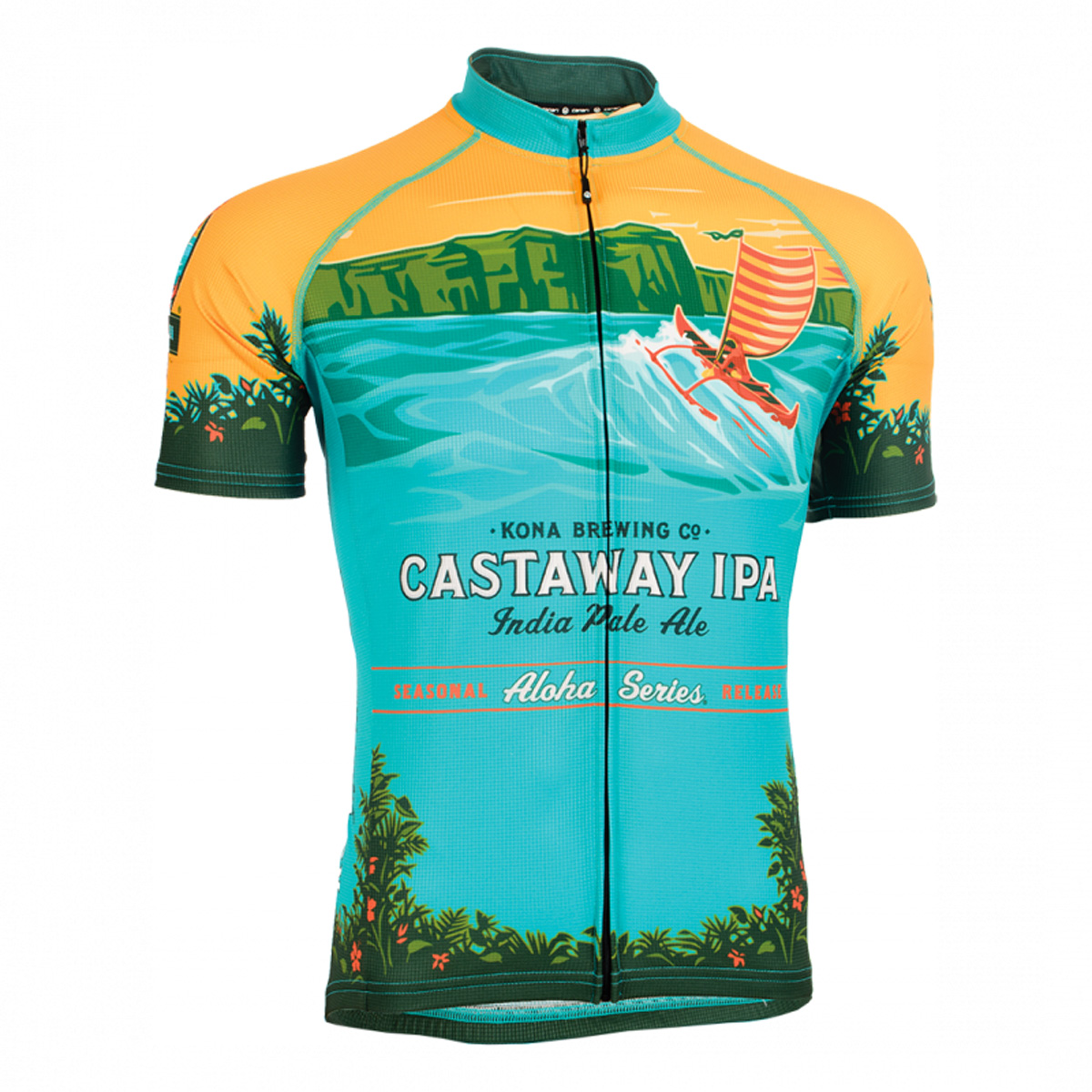 Canari Cyclewear 2016 Men's Kona Brewing Co Castaway IPA Short Sleeve Cycling Jersey - 12256