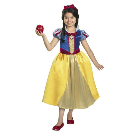 Disney Princess Girls Snow White Halloween Costume (Disney's Halloween Treat Vhs)