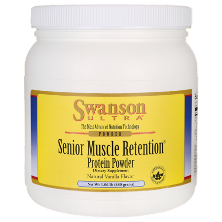 Swanson Senior Muscle Retention Protein Powder - Vanilla 1.06 lb