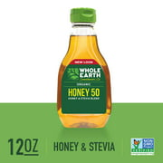 Whole Earth Sweetener Organic Honey and Organic Stevia Blend, 12 Oz