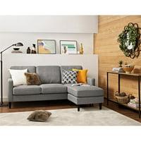 Dorel Living Kaci Reversible Upholstered Sectional, Multiple Colors