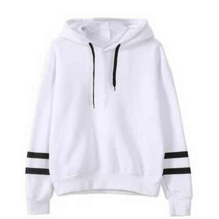 7687ae0d1 New Arrivals Spring Autumn Women Hoodies Pullover Loose Female Patchwork  Casual Hooded Sweatshirt Color Stitching Harajuku Tops White Gray Black  Wine Red ...
