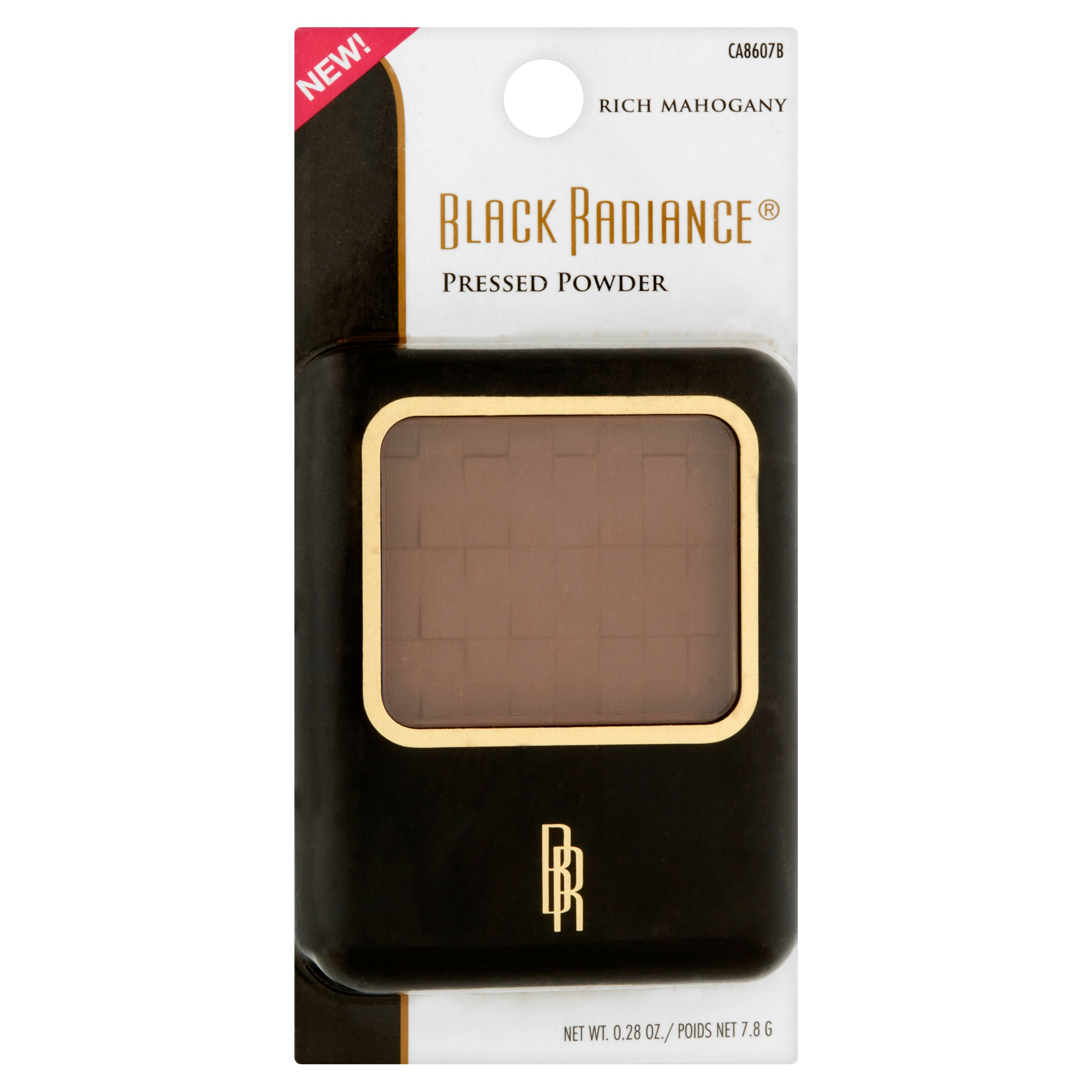 Black Radiance CA8607B Rich Mahogany Pressed Powder, 0.28 oz