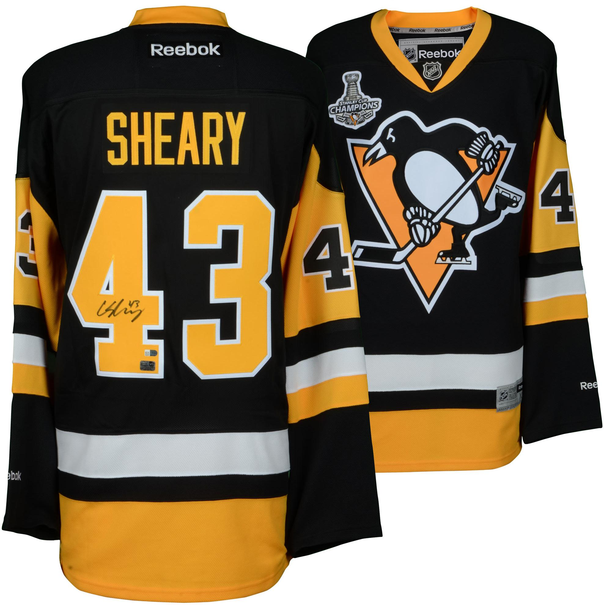 Conor Sheary Pittsburgh Penguins 2016 Stanley Cup Champions Autographed Black Reebok Premier Jersey with 2016 Stanley Cup Finals Patch - Fanatics Authentic Certified
