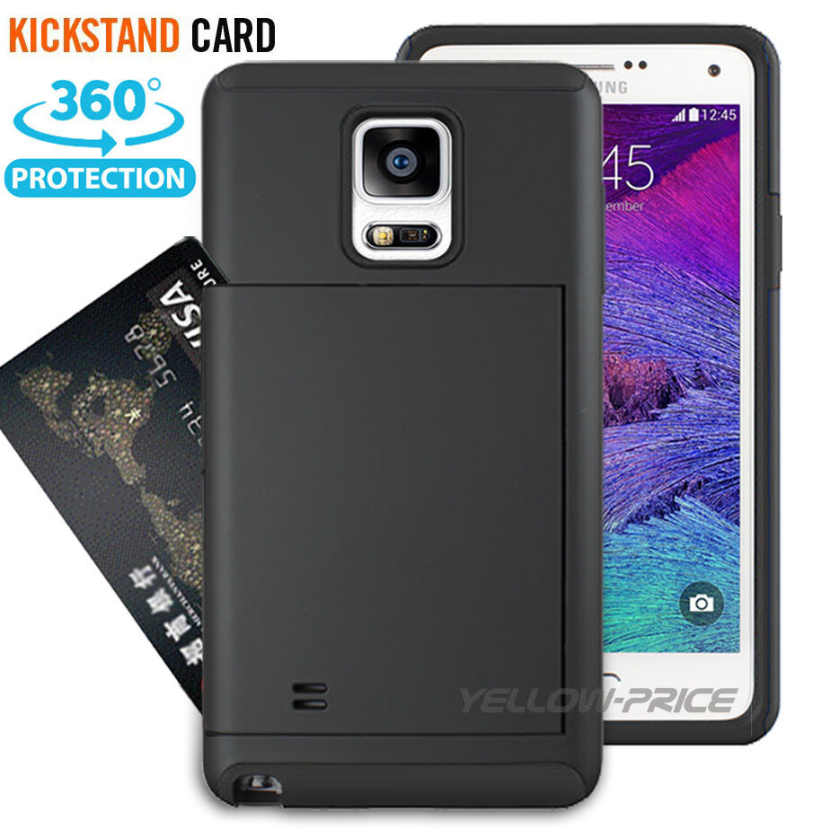 LIVEDITOR NEWCard Pocket Wallet Slim Case Kick-Stand Cover for Samsung Galaxy Note 4 N9100 - image 4 of 6