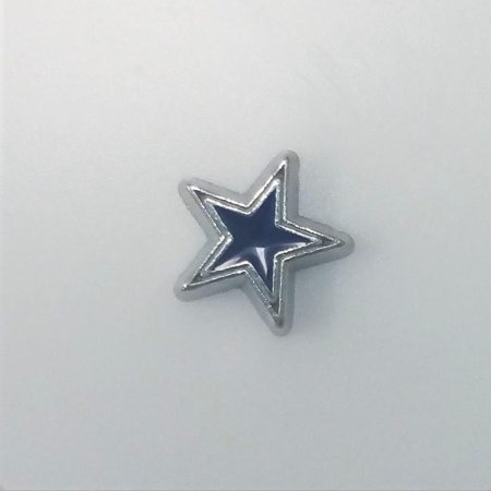 1 PC - Dallas Cowboys Sports Team Enamel Silver Charm for Floating Locket Jewelry F0416
