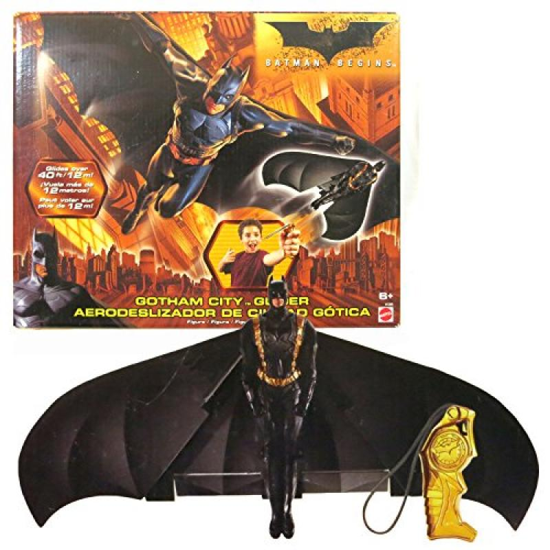 Mattel Year 2005 DC Comics Batman Begins Movie Series Gliding Action Figure GOTHAM CITY GLIDER with Batman... by