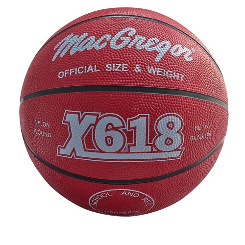 MacGregor Men's Basketball Rubber Out... Color: MAC RUBBER BBALL OFFICIAL PURPLE