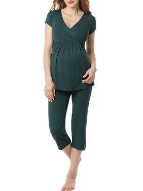 376c4a008bdb4 Product Image Women's Ultra Soft Maternity & Nursing Pajamas Sleepwear Set