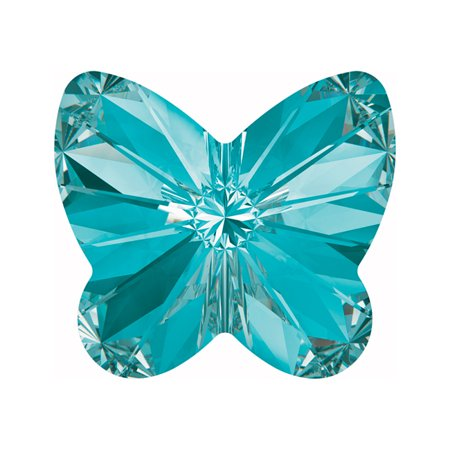 Swarovski Crystal, #4748 Rivoli Butterfly Rhinestones 5mm, 6 Pieces, Aquamarine F