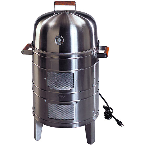 Meco Southern Country Smokers Stainless Steel 1500-Watt Electric Outdoor Water Smoker with 2 Levels Of Cooking