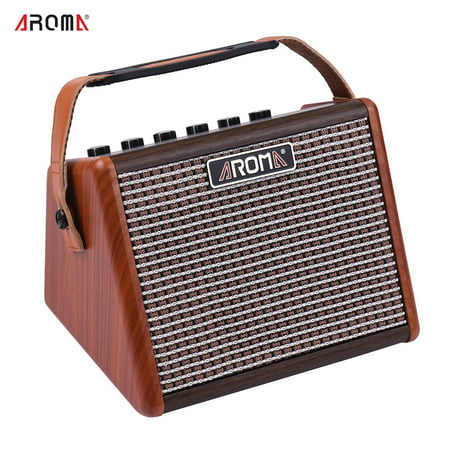 - AROMA AG-15A 15W Portable Acoustic Guitar Amplifier Amp BT Speaker Built-in Rechargeable Battery