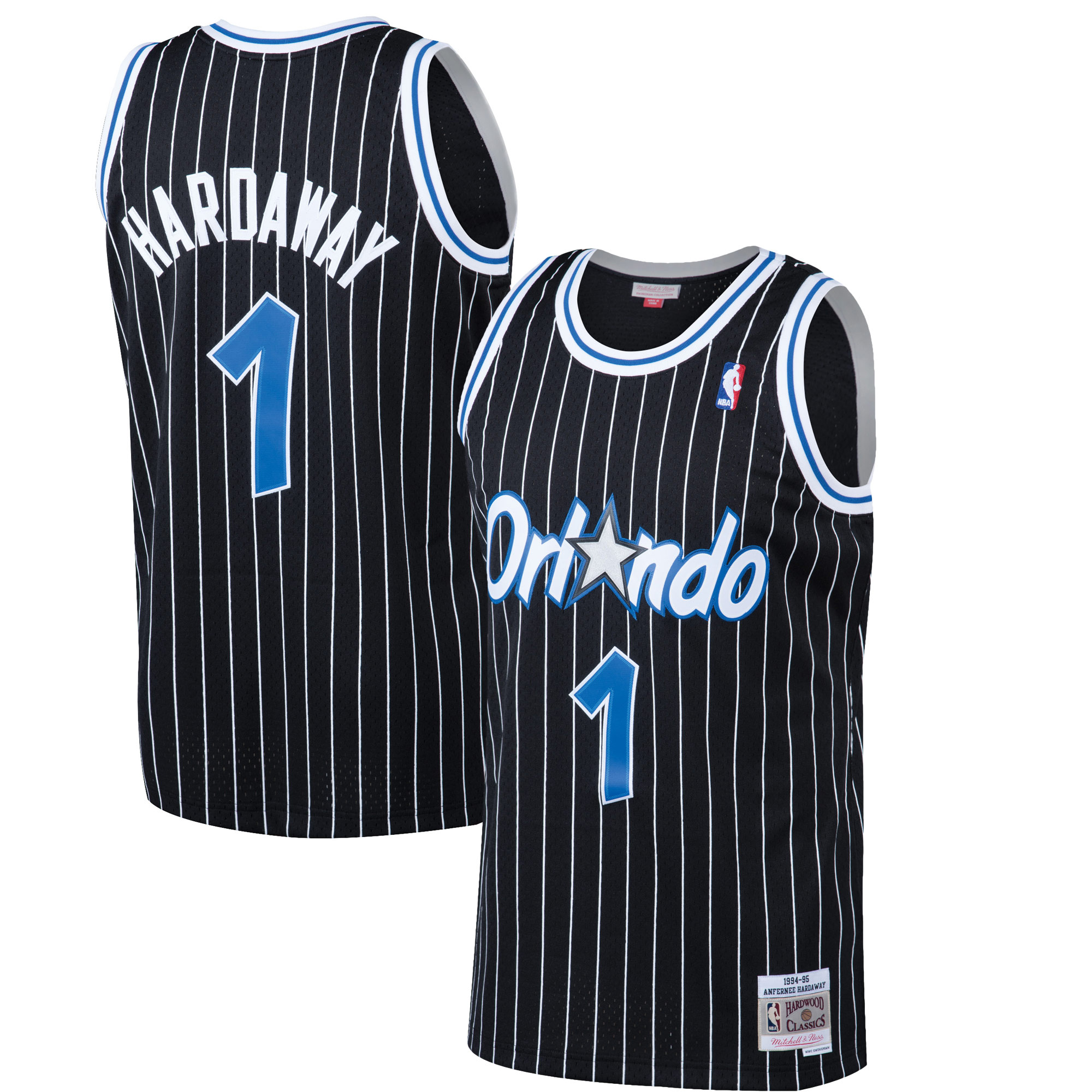 Anfernee Hardaway Orlando Magic NBA Mitchell & Ness Black 1994-95 Swingman Throwback Jersey For Men