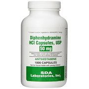 SDA Labs Diphenhydramine HCL, 50mg, 1000 Caps