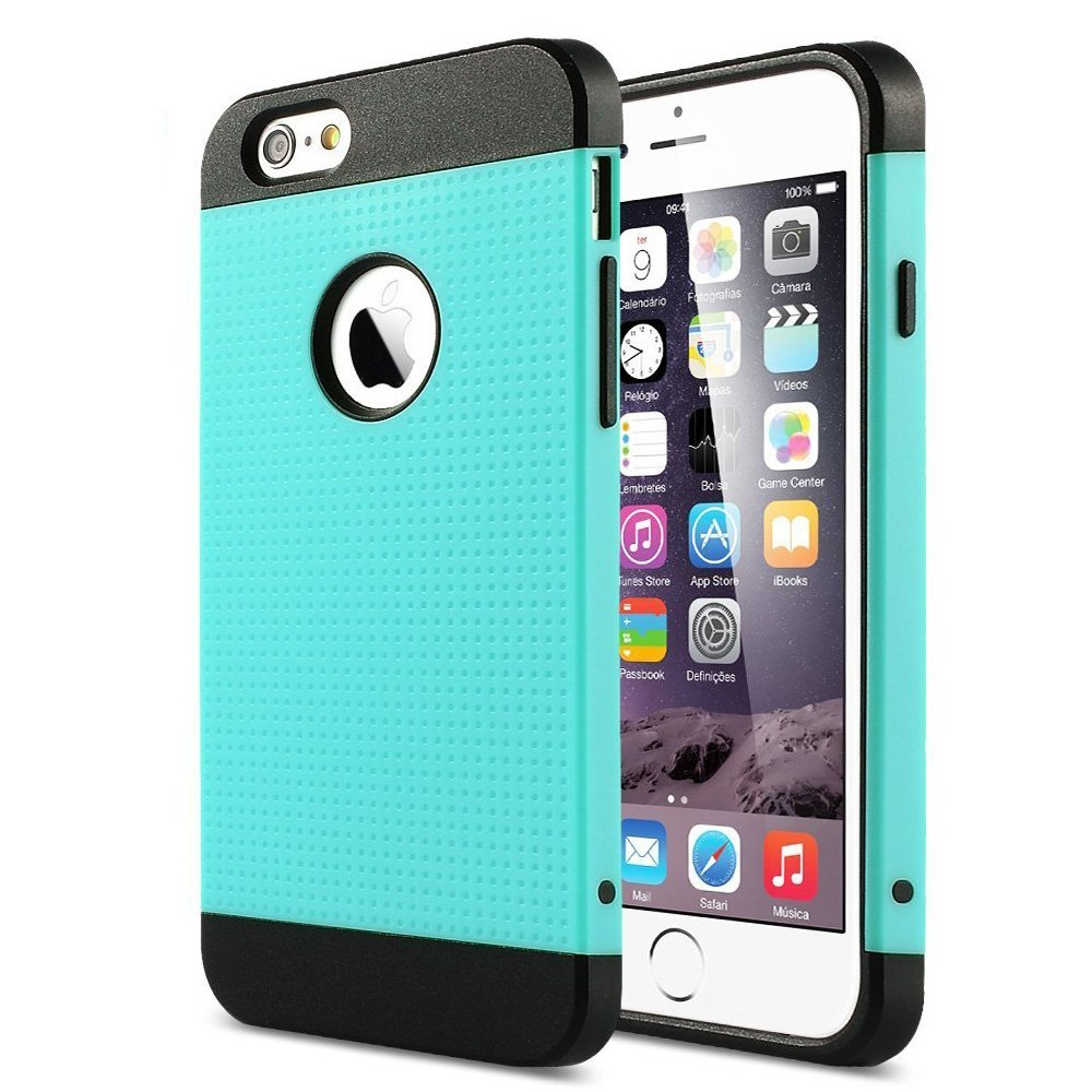 ULAK [2 in 1 Shield Series] Hybrid Case for iPhone 6S Plus/iPhone 6 Plus (5.5 Inch) with 2-Piece Style hard PC outer shell and soft inner TPU Hard Cover