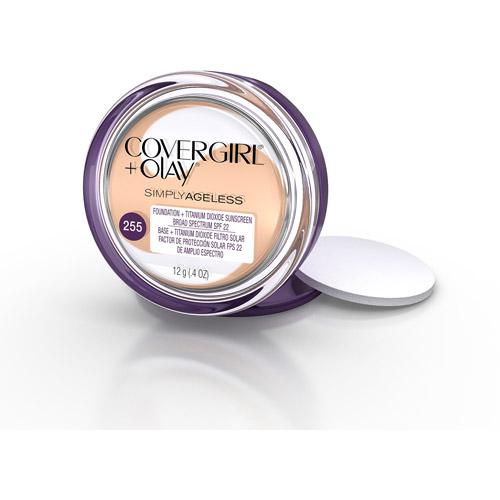COVERGIRL & Olay Simply Ageless Instant Wrinkle Defying Foundation, Soft Honey, .4 oz