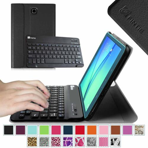 Samsung Galaxy Tab A 8.0 SM-T350 Case - Fintie Smart Slim Shell Cover with Detachable Wireless Bluetooth Keyboard, Black