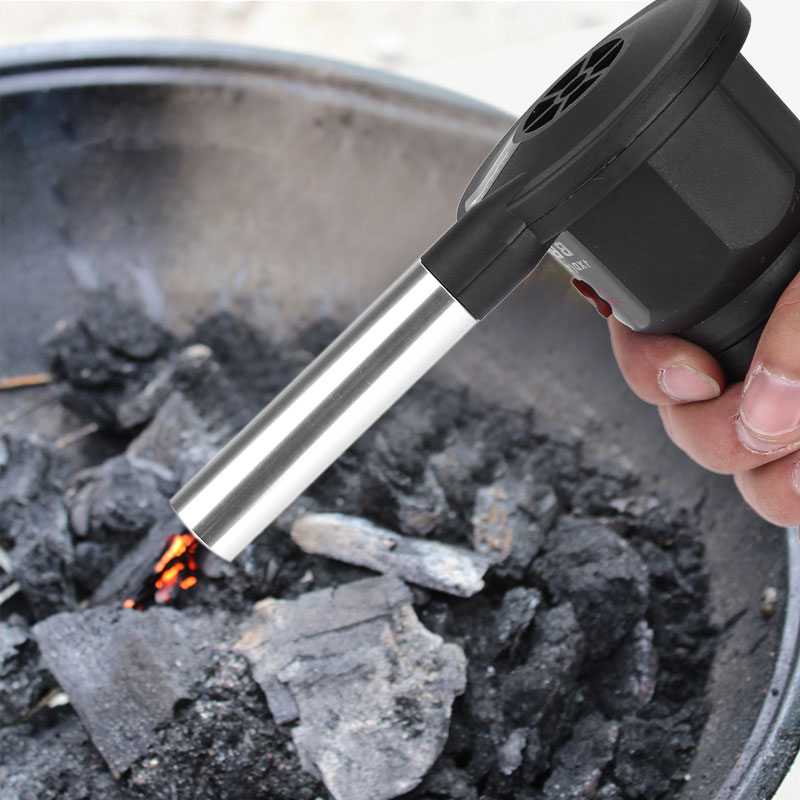 Portable BBQ Fan Grill Fire Air Blower for Outdoor Cooking Picnic Tool Battery