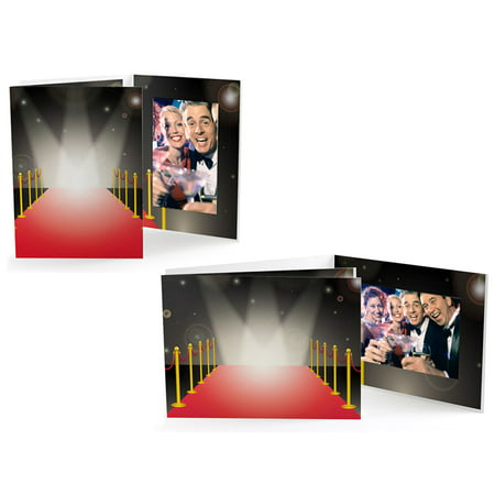 Red Carpet 4x6 Horizontal Event Photo Folders (25 Pack)