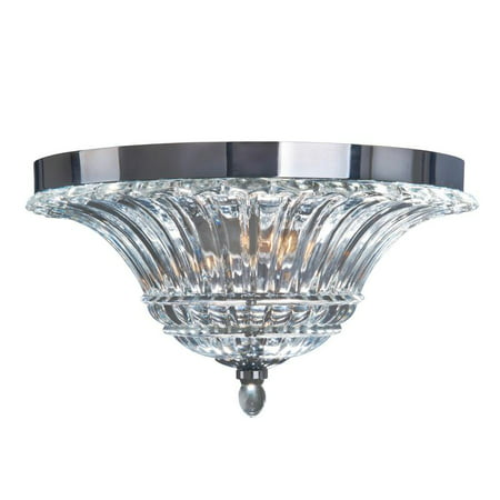 - 2 Light Glass Ceiling Light Glacier Petal Flushmount