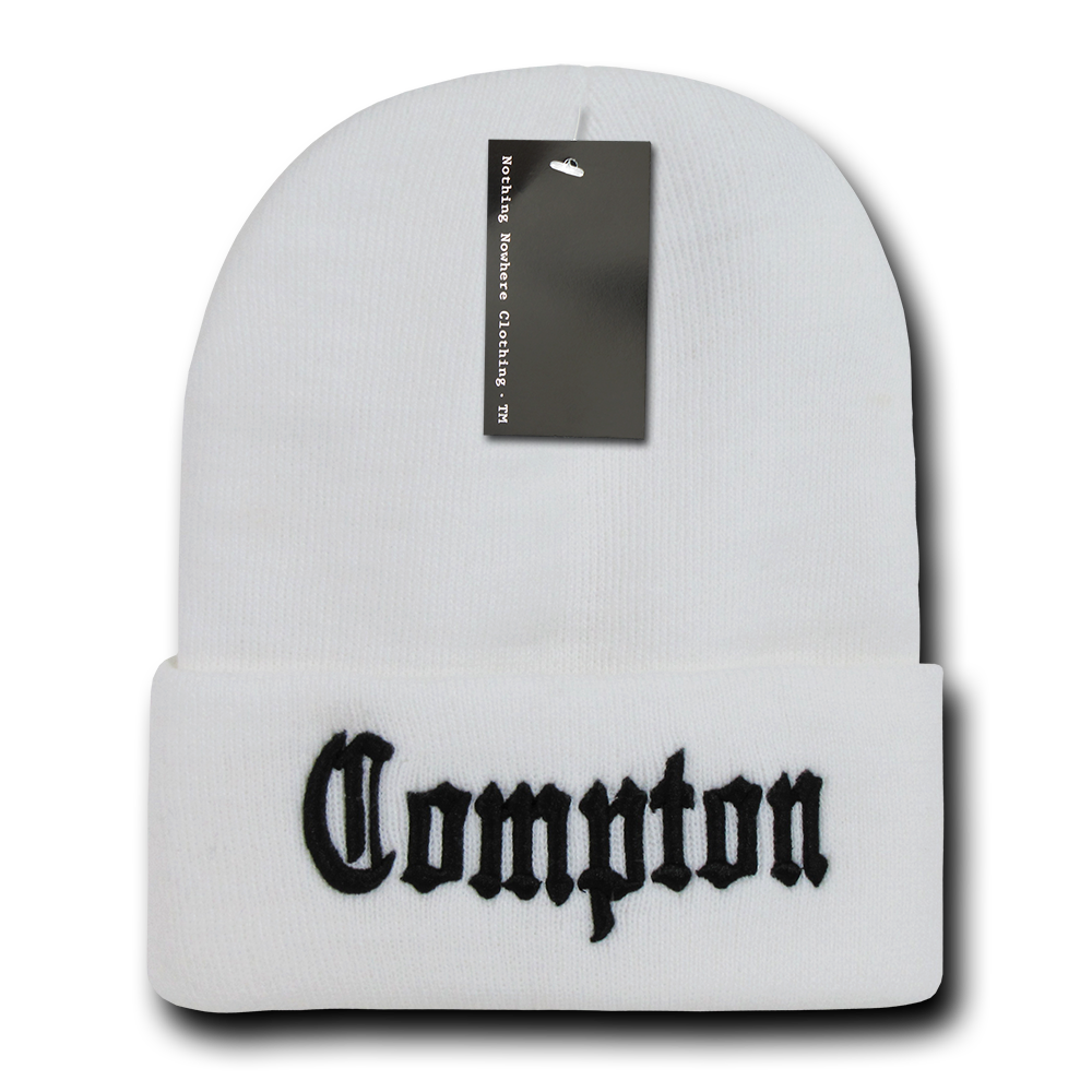 Nothing Nowhere City Compton Beanies Black 1