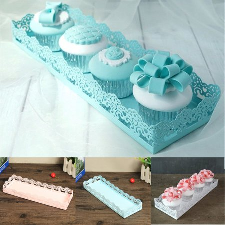 Rectangle Cake Stand Dessert Pastry Tray Wedding Banquet Cupcake Stands Holder Display (Macaron Display Tray)