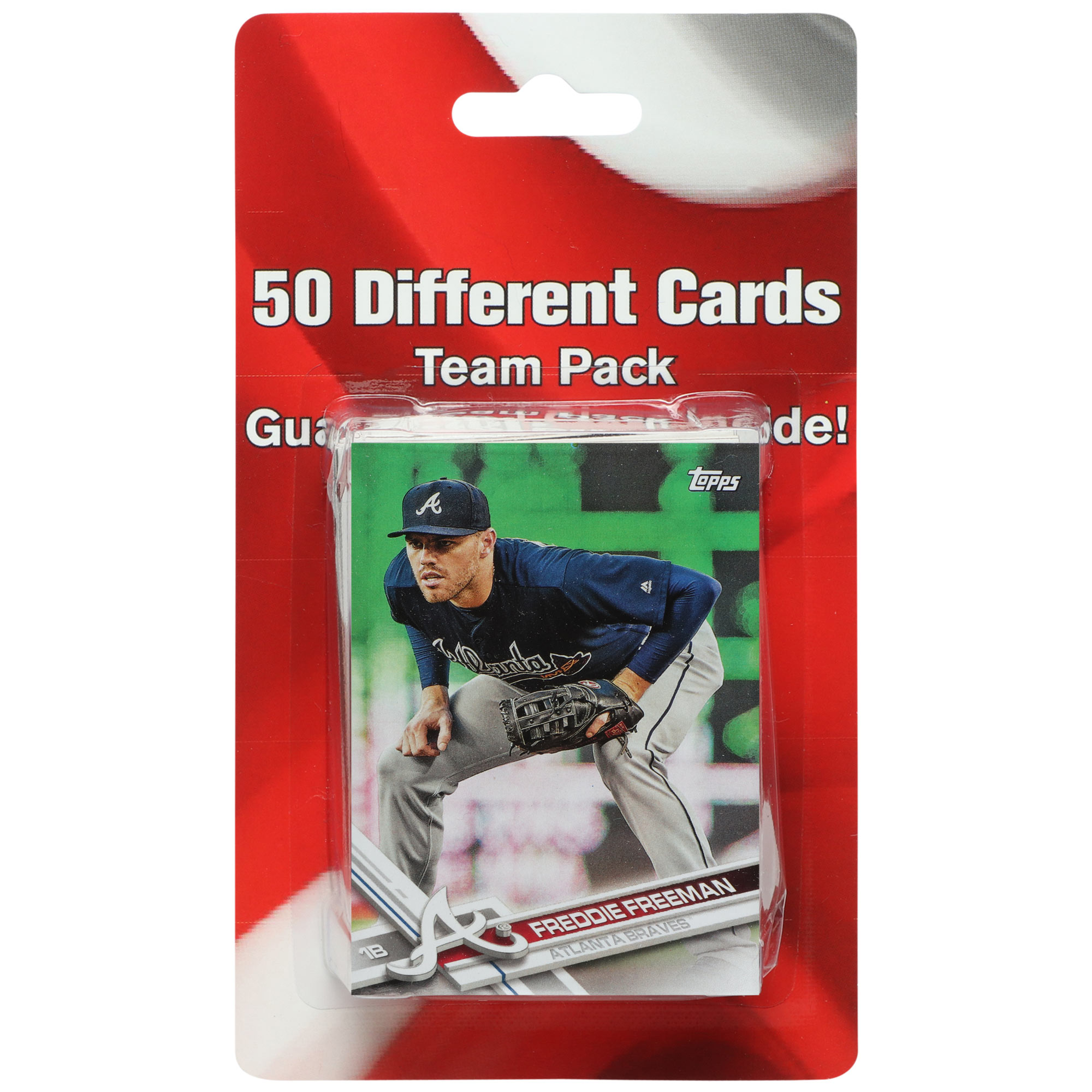 Atlanta Braves 50 Card Team Pack Trading Cards - No Size
