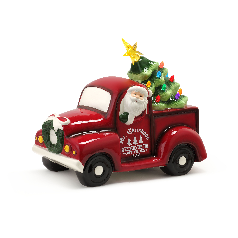 Mr Christmas 14 Lit Nostalgic Ceramic Truck With Tree Walmart Com Walmart Com