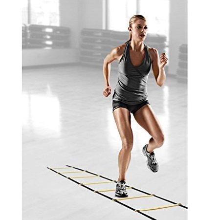 AGPtEK Fitness Feet Training Durable 4 Meter 8 Rung Agility Ladder for Soccer Speed