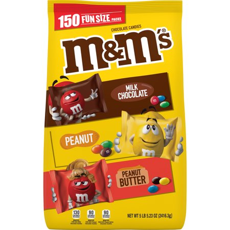 M&MS, Fun Size Assorted Candy Variety Mix, 85.23 oz