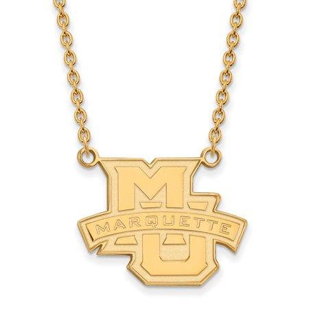 Marquette Chain - 14k Yellow Gold Marquette University Large Pendant w/Necklace
