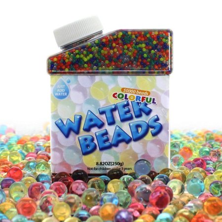 Water Beads 50000 Icy Soft Water Gel Orbeez Beads Pearls Growing Jelly - Pearl Colored Beads