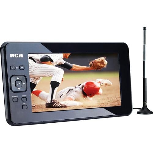 """RCA 7"""" Portable Widescreen LCD TV with Detachable Antenna"""