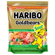 Haribo Gold-Bears Sour Original Gummi Candies Party Size, 25.6 Oz.