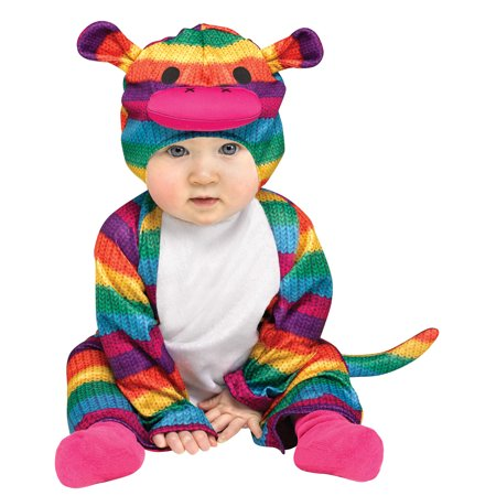 Rainbow Sock Monkey Toddler Costume - Sock Monkey Toddler Costume