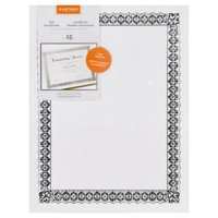 (2 Pack) Gartner Studios Silver Border Certificates