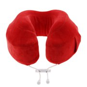 Cabeau™ Evolution Memory Foam Travel Neck Pillow - The Best Travel Pillow with 360 Head, Neck and Chin Support, Red