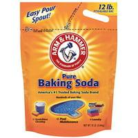 Arm & Hammer 12 LB Baking Soda 100% Sodium Bicarbonate Re-Sealable Bag