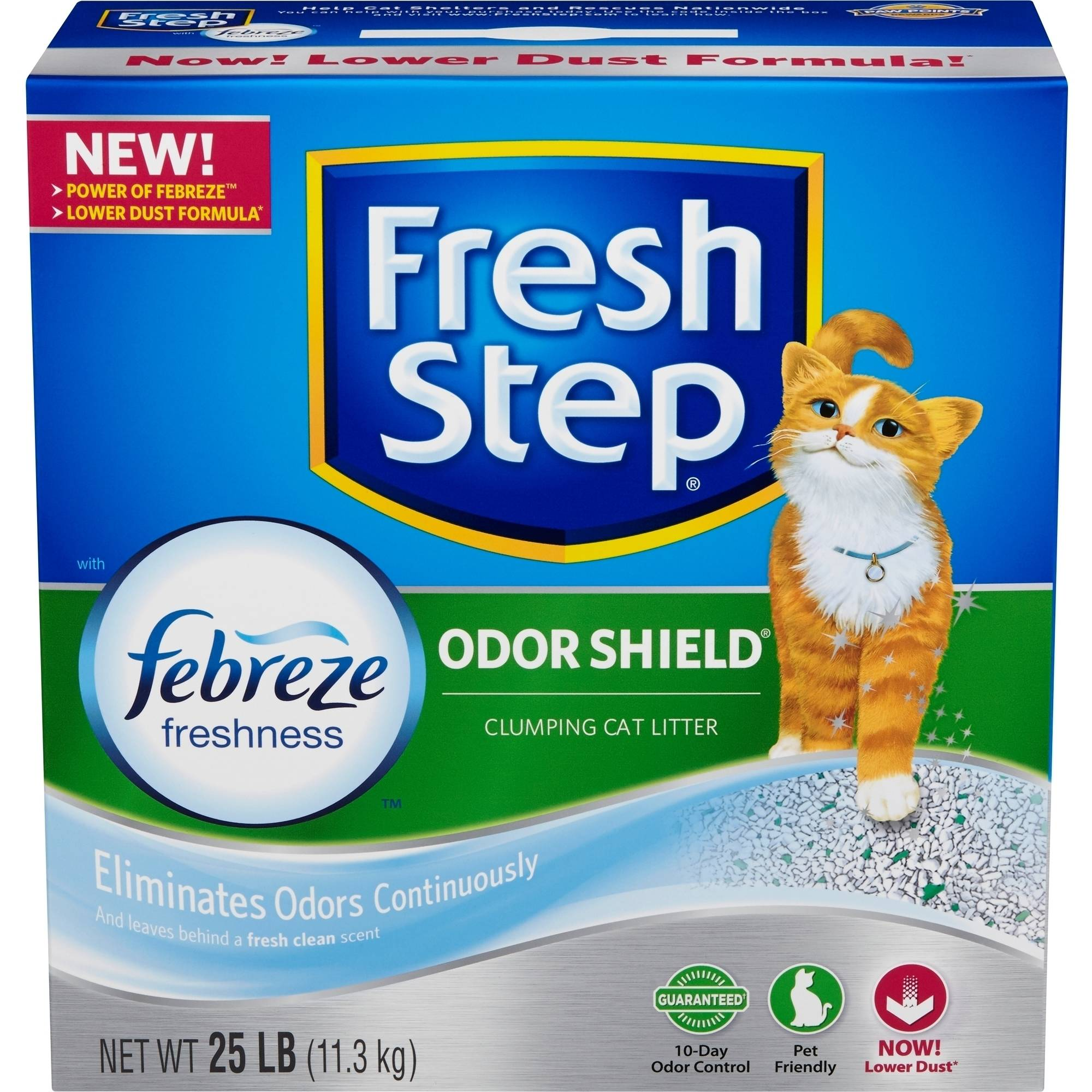 Fresh Step Odor Shield Scented Scoopable Cat Litter, 25 Pounds
