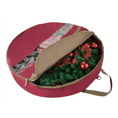 - Elf Stor Ultimate Red Holiday Christmas Wreath Storage Bag For 30