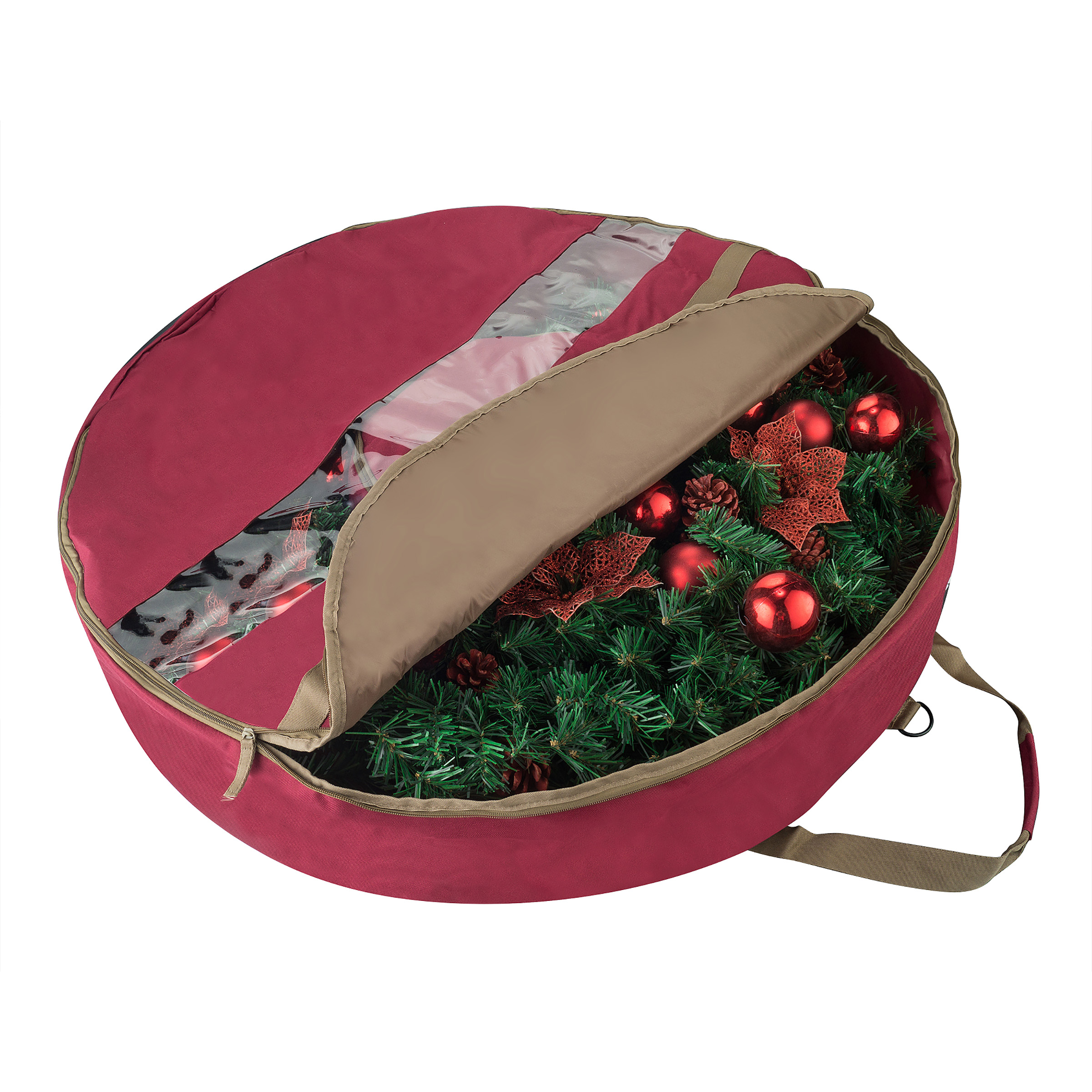 "Elf Stor Ultimate Red Holiday Christmas Wreath Storage Bag For 30"" Inch Wreaths"