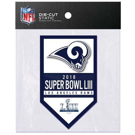 - Los Angeles Rams Sparo Super Bowl LIII Bound Die Cut Static Cling Decal - No Size