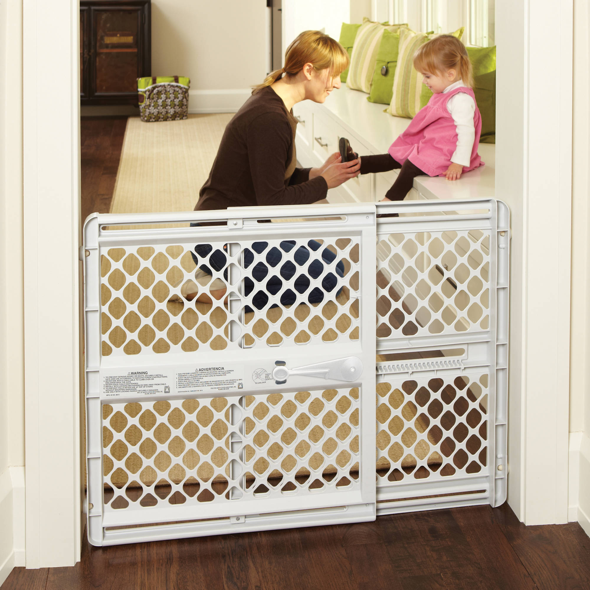 North States Supergate Classic Gray Easy Use Baby Gate, 26''-42''
