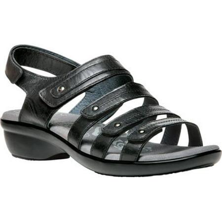 136e2af3d6e1 Propet - Propet Aurora - Women s Leather Adjustable Sandals - Black -  Walmart.com