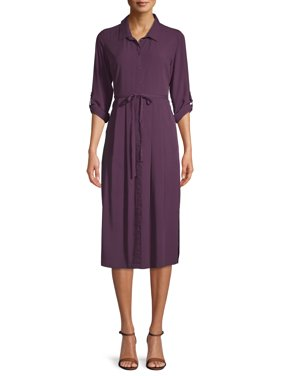 Time and Tru Women's Long Sleeve Dress
