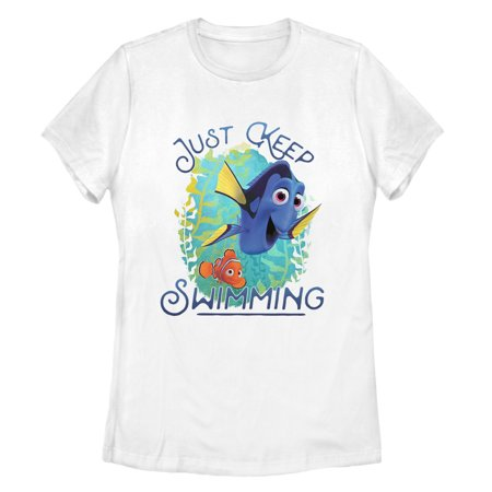 Finding Dory Women's Motivational Message T-Shirt Just keep swimming with a fun new Finding Dory shirt! Shop Finding Dory graphic tees featuring Dory, Marlin, Nemo, Hank, Bailey, and all your favorite Finding Dory characters.